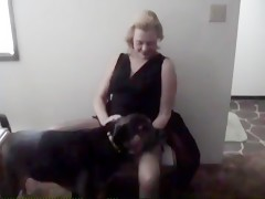 Larisa in black fucked by dog hot