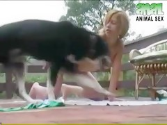 Aline and dog sex