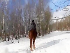 20 year old girl Katya spets on horses from TeamRussia Zoo